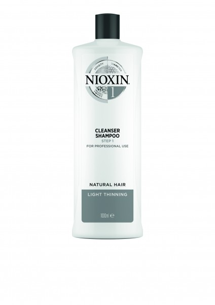 NIOXIN System 1 Cleanser Shampoo für naturbelassenes Haar - dezent dünner werdendes Haar 1000ml