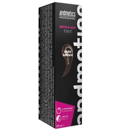 andmetics Brow & Lash Tint Dark Brown 20 ml