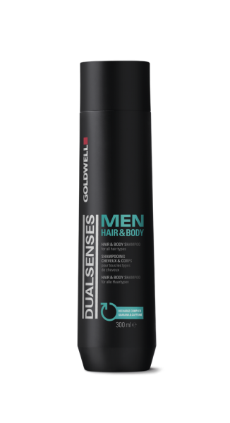 DUALSENSES Men Hair & Body Shampoo, 1L