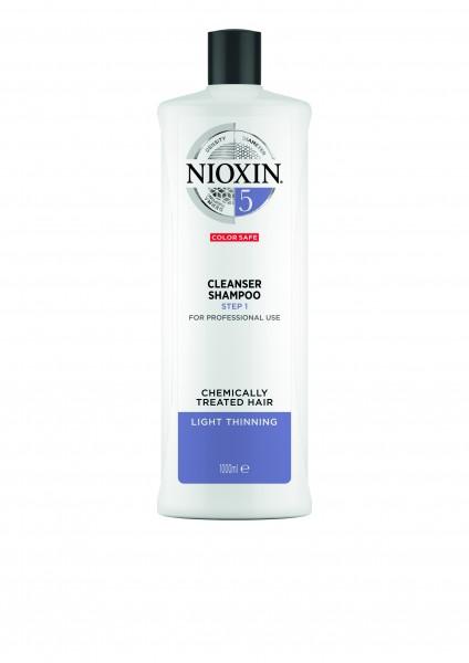 NIOXIN System 5 Cleanser Shampoo für chemisch behandeltes Haar (blondiert/dauergewellt/geglättet) -