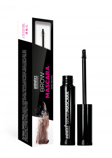 andmetics Brow Mascara Dark Brown 6,5 ml