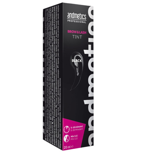 andmetics Brow & Lash Tint Black 20 ml
