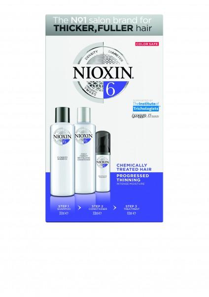 NIOXIN 3-Stufen-System Starter-Set 6 für chemisch behandeltes Haar (blondiert/dauergewellt/geglättet